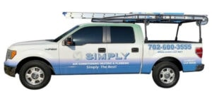 Simply Air Conditioning Heating & Plumbing Truck